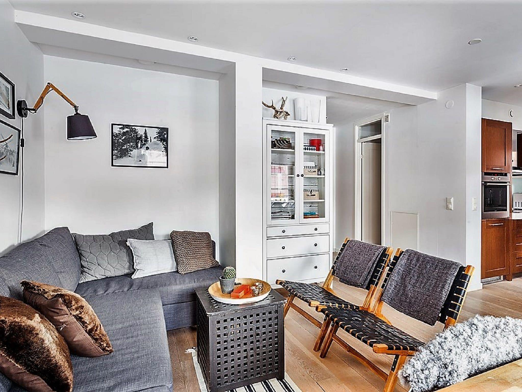Fint vardagsrum i Luxhuset i Åre