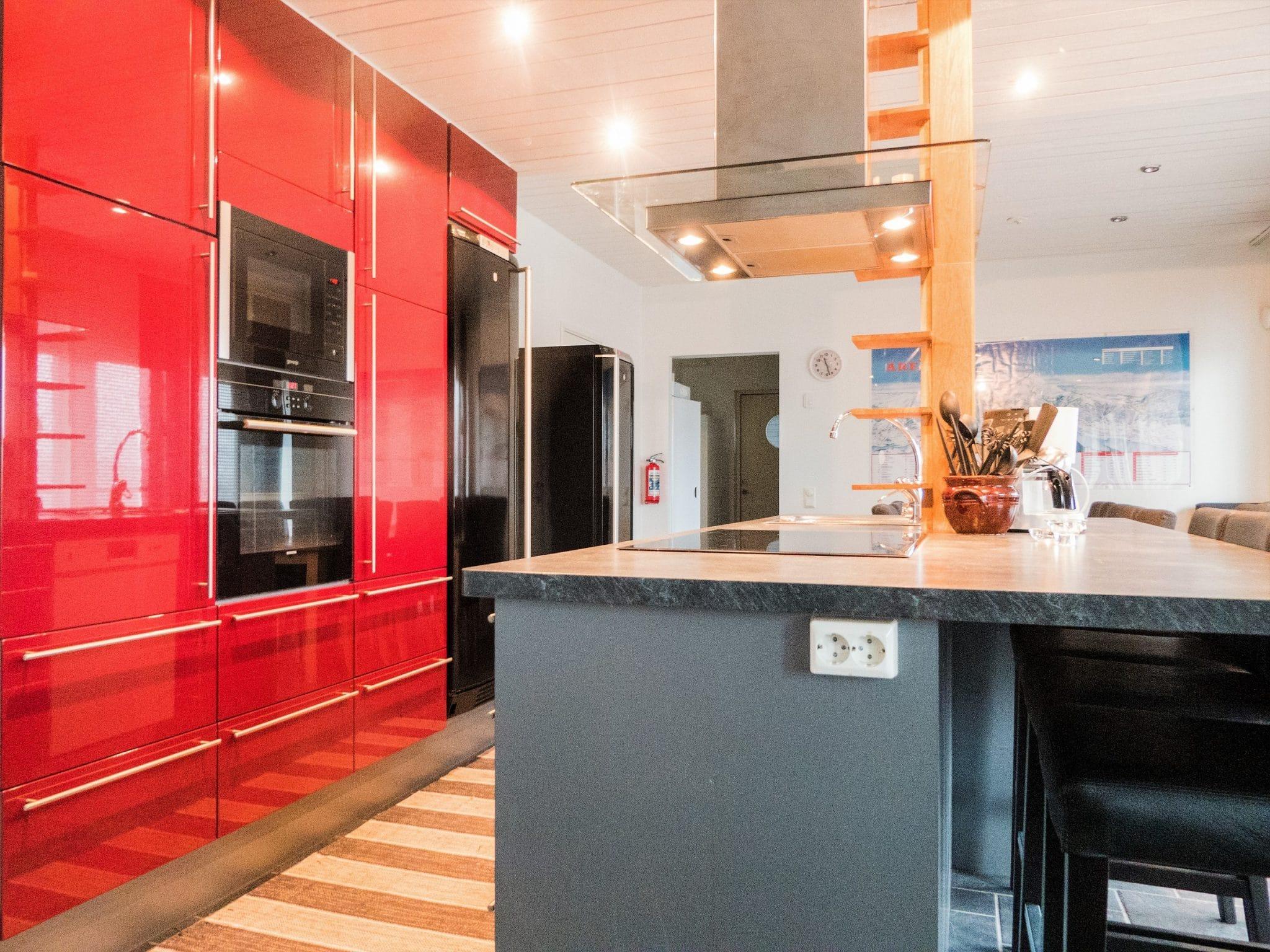 Rött fint kök i Slalomsvängen 17 i Åre
