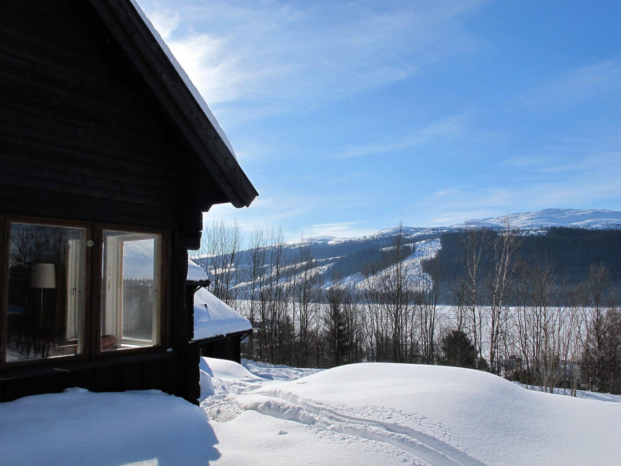 Vy från Skutan Ski Lodge i Åre vintertid