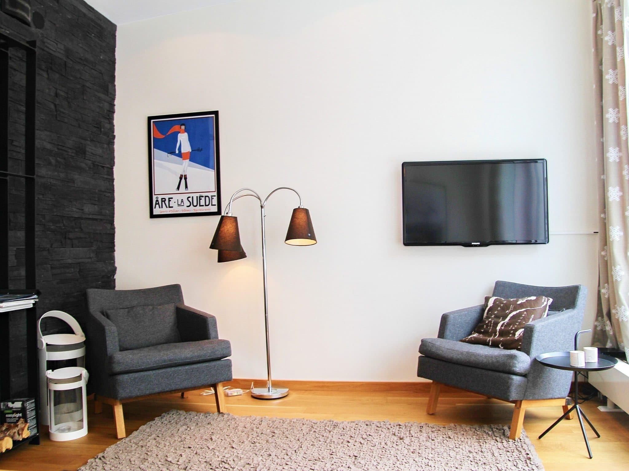 Myshörna med två fåtöljer i Sporthotellet 2 i Åre