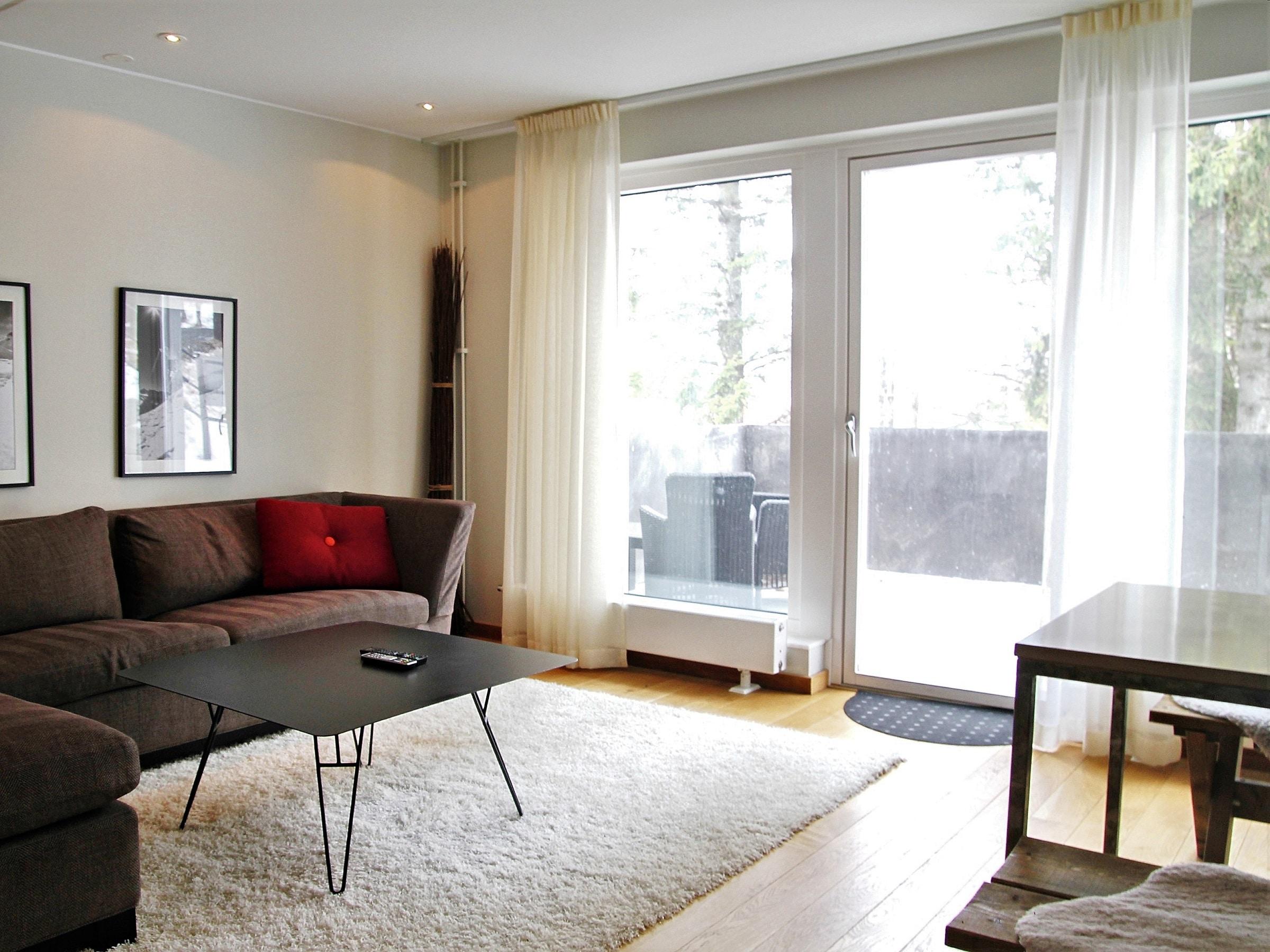 Bright living room in Sporthotellet 2 in Åre