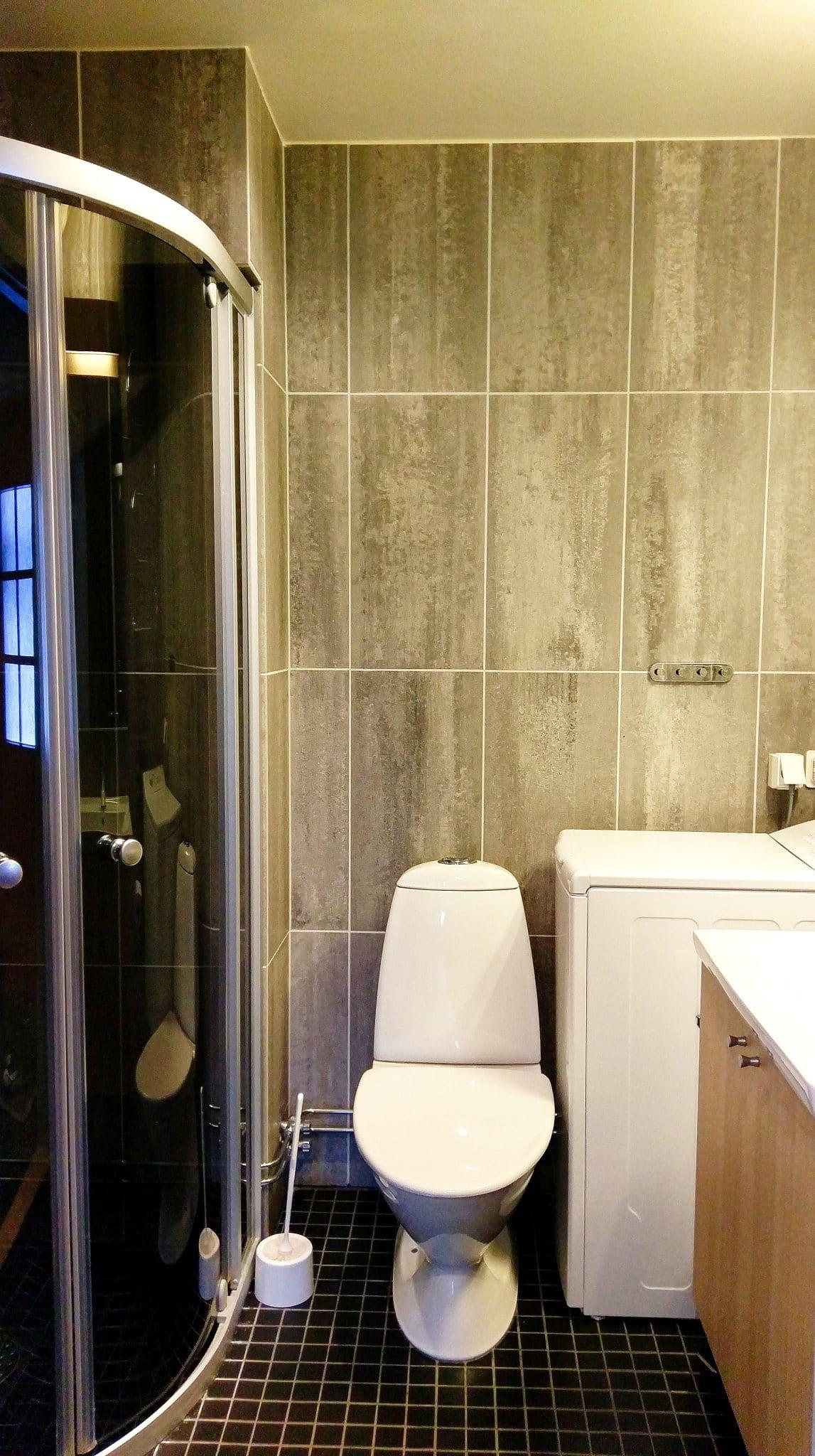 Badrum, WC, dusch och tvättmaskin
