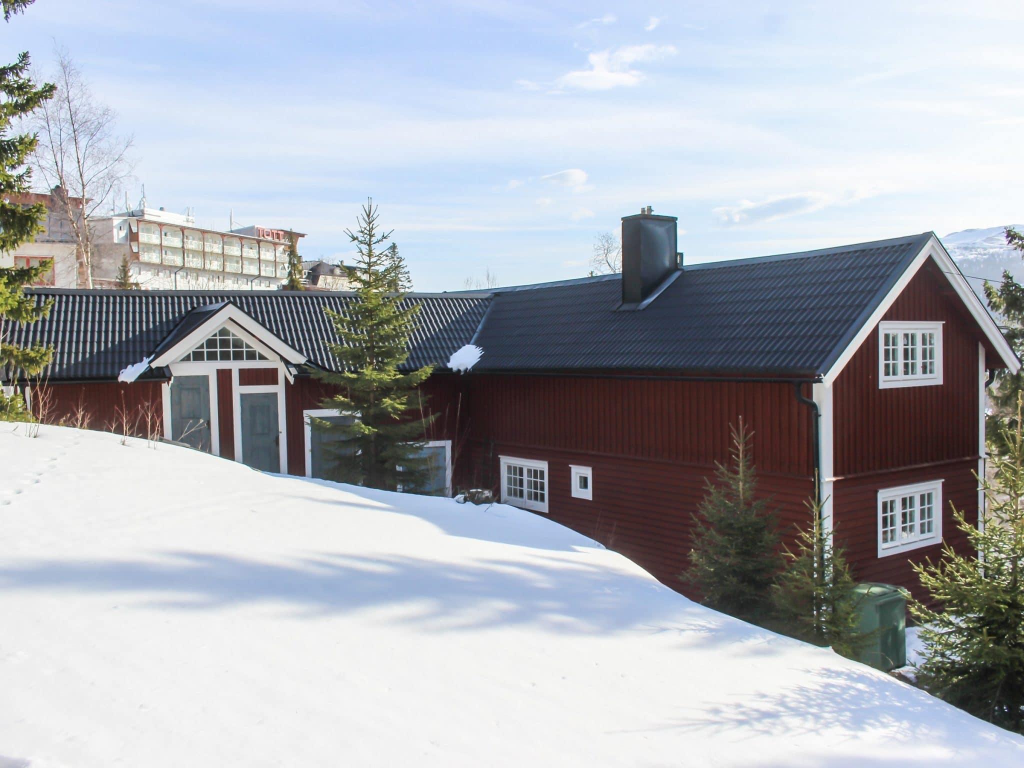 Vy över Lilla Årebo vintertid