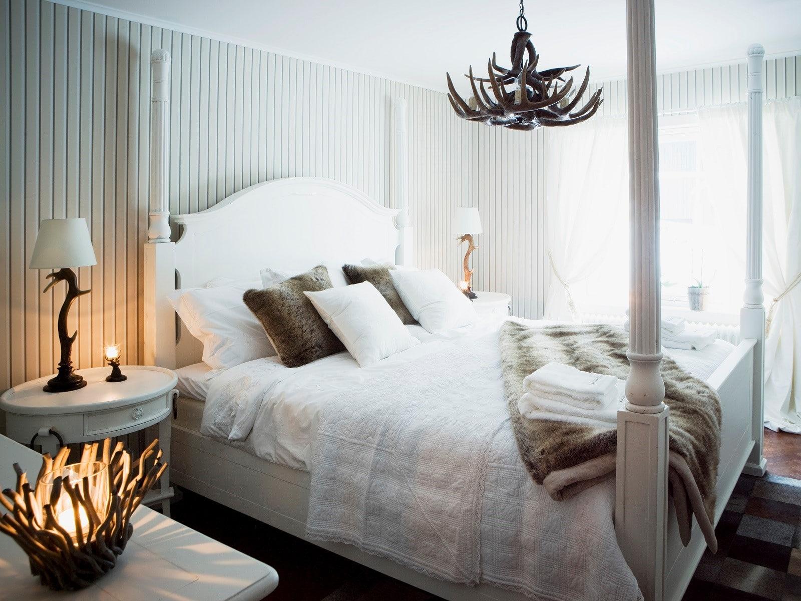 Bäddad säng i Åre Chalet i Åre