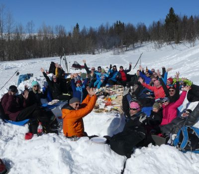 Easter table on the mountain in Åre