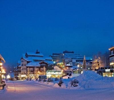 Åre square in winter